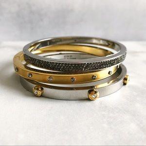 Henri Bendel Silver Crystal Rhinestone Bracelet